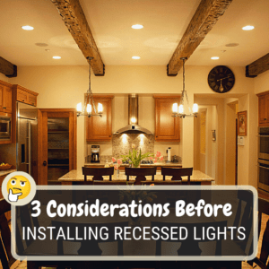 Installing recessed lighting