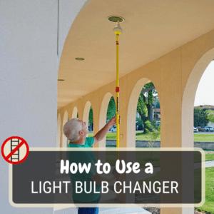 Light bulb changer pole for tall ceilings