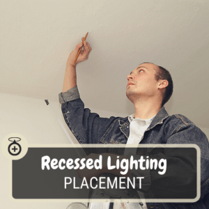 Recessed lighting placement on ceiling