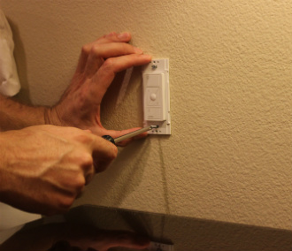 Install the dimmer wall mount