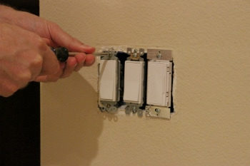 remove the old light switch