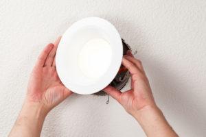 Installing LED Retrofit Bulb into Ceiling Fixture