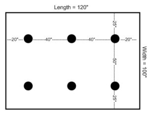 Placement of Recessed Lights example