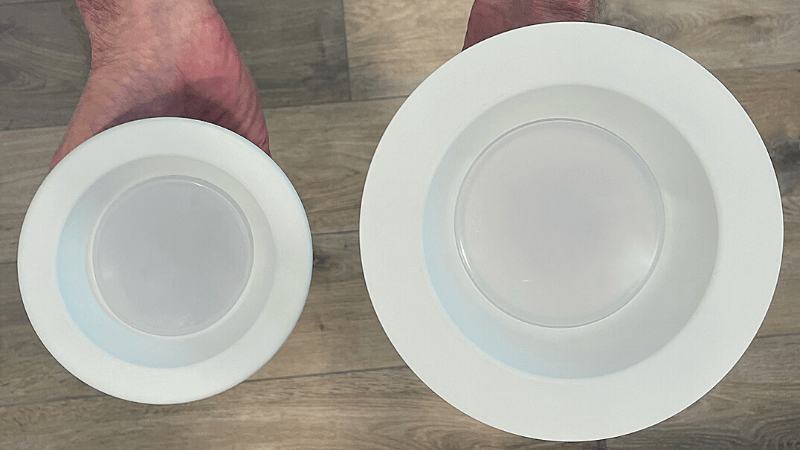 4 inch vs 6 inch recessed lighting comparison