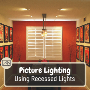 Recessed lighting for pictures and artwork