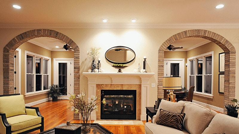Plan and design the recessed lighting for a room