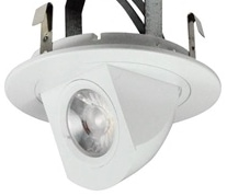 Fully adjustable recessed elbow light